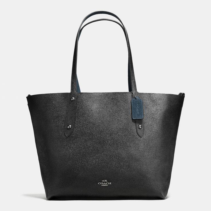 바로 보기 리버시블 라지 마켓 토트 인 스웨이드 앤 크로스그레인 레더.디자이너 가방, 지갑, 신발 & 더 많은 상품들을 COACH.com에서 확인하세요!