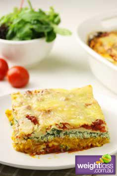 Healthy Pasta Recipes: Pumpkin & Ricotta Lasagne. weightloss.com.au  #HealthyRecipes #WeightlossRecipes #DietRecipes
