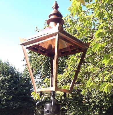 #Large traditional copper #victorian post lantern lamp garden #street light top,  View more on the LINK: 	http://www.zeppy.io/product/gb/2/172227830464/