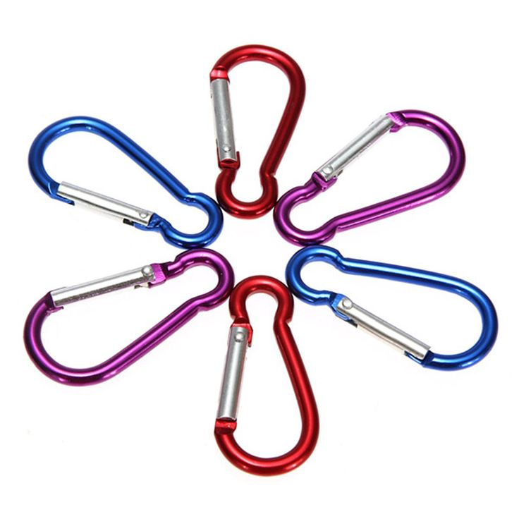 10 Pcs/Lot Metal Aluminum Climbing Carabiner Hook Clip Snap Key Ring Camping Sport Karabiner Keychain outdoor tools