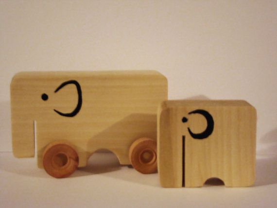 Handmade ecofriendly wooden toy elephant on by TimberToysCardiff, £12.50