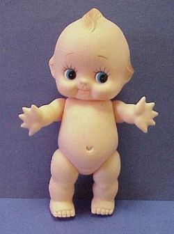 My mom had one of these in our bathroom when I was a kid. It was a childhood toy of hers and she'd bitten off some of the fingers and all of the toes.