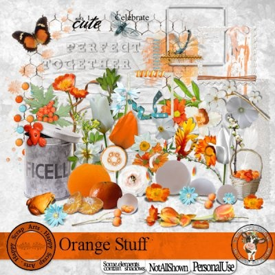 Orange Stuff [Happy Scrap Arts] - $5.95 : Moo Two Designs, The Udder way to Scrap!