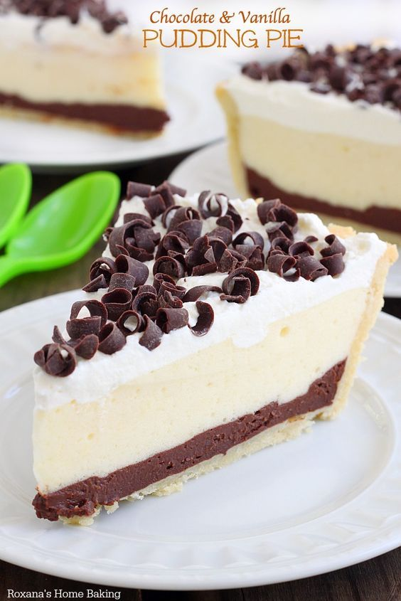 Made completely from scratch, this chocolate and vanilla pudding pie is a breeze to make! So rich, yet so light and creamy!
