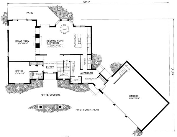 8 best garage plans images on pinterest garage plans House plans with 4 car attached garage