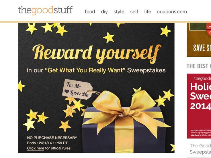 """Enter The Good Stuff's """"Get What You Really Want"""" Sweepstakes for a chance to win 1 of 6 $100 Electronic Gift Cards!"""