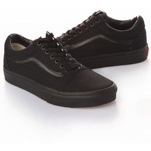 All black Vans old skool