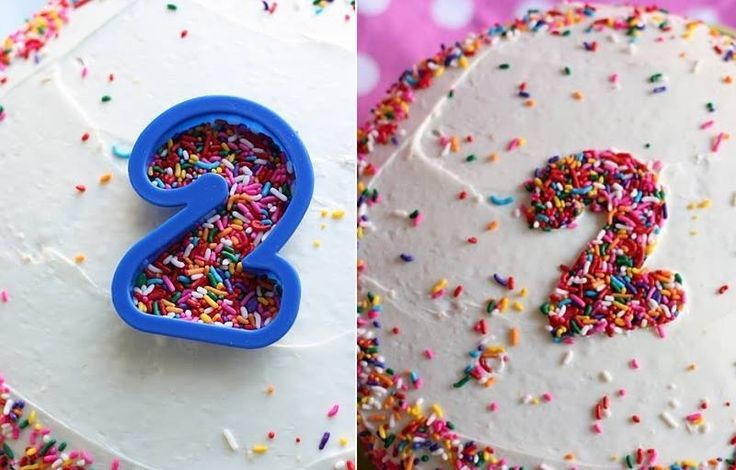 Good idea for making their age on a cake