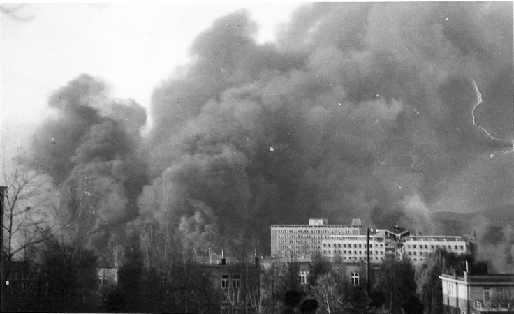 Bata Factory Zlin being bombed by Alllied forces Nov 20th 1944 photo courtesy of John Tusa archive