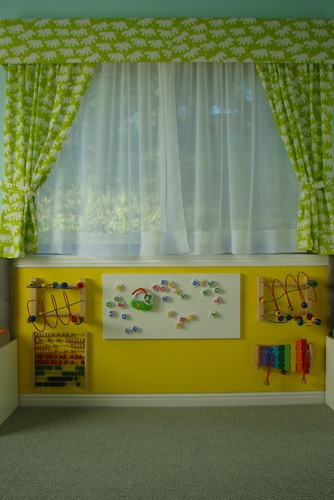 Shared Nursery And Toddler Room Design, Pictures, Remodel, Decor and Ideas - page 19 - metallic wall!