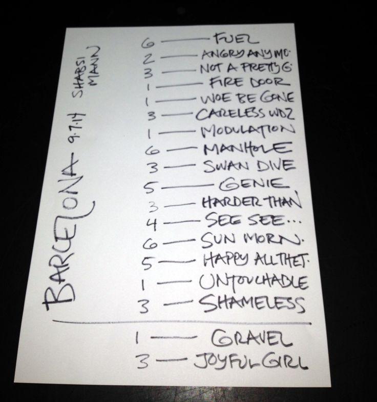 Setlist del concierto de Ani DiFranco en Barcelona.