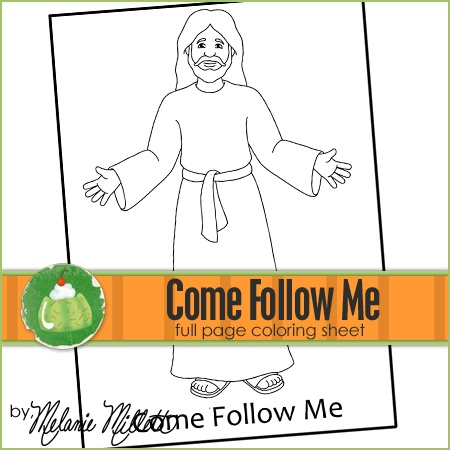 follow me coloring pages - photo#5