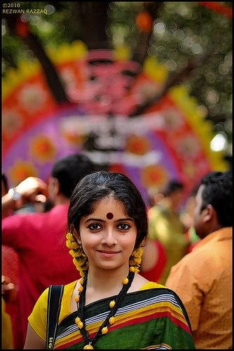 Pretty indian girl with a nice little smile