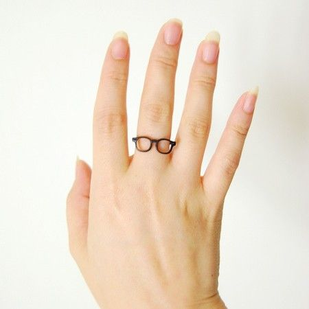 Lilou  MEGANE RING wellington 11 mat black