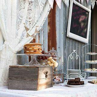 Rustic babyshower high tea sweets table. All items for hire. #queenstvintage #rusticweddingsigns #rusticprops #rusticwishingwell #rusticweddings #vintageweddings #vintageprops #vintagesigns #rusticsigns #babyshower #sweetstable #lacebackdrop #hightea  #queenstvintage #rusticprops #rusticweddings #recycledtimber #prophiresydney #vintageideas #rusticsigns #rusticdrinkstations #rusticsweettables #vintageweddings #rusticwishingwells #timberweddingsigns #drinkstations #photobooth…