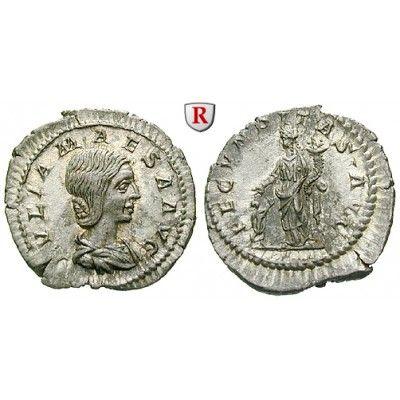 Römische Kaiserzeit, Julia Maesa, Großmutter des Elagabal, Denar 218-220, f.st: Julia Maesa, Großmutter des Elagabal +225. Denar 21… #coins
