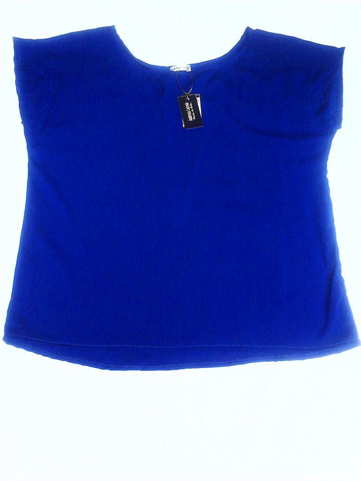 Top mangas azul eléctrico (MAGNIFIQUE)