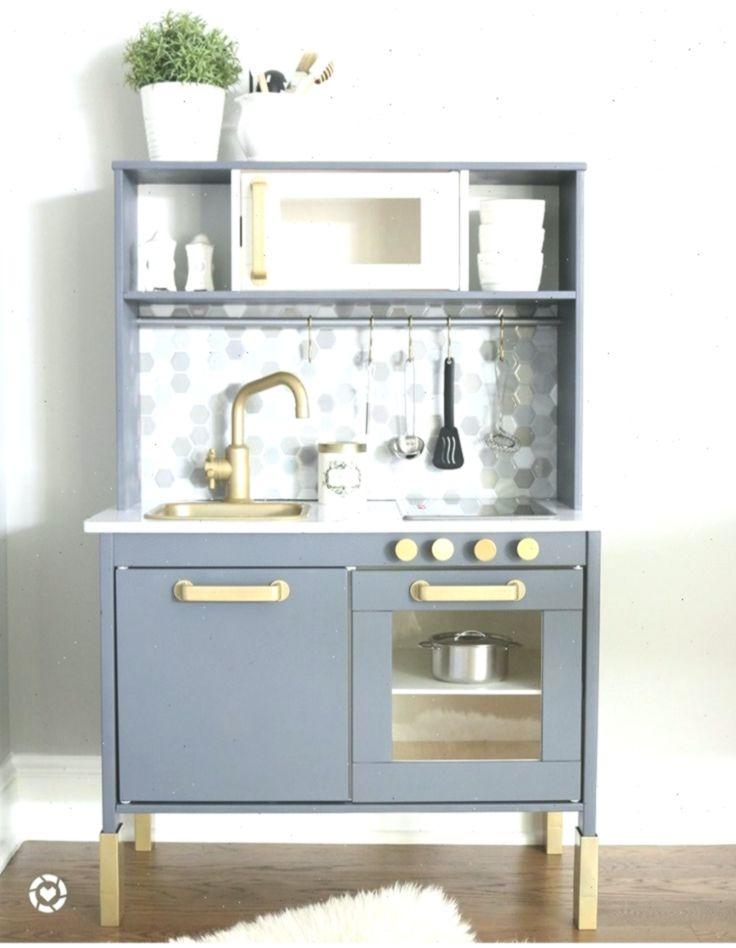 Diy Ikea Duktig Kitchen Hack Gold Gray Marble Diy Duktig Gold Gray H Mit Bildern Ikea Duktig Duktig Ikea Diy