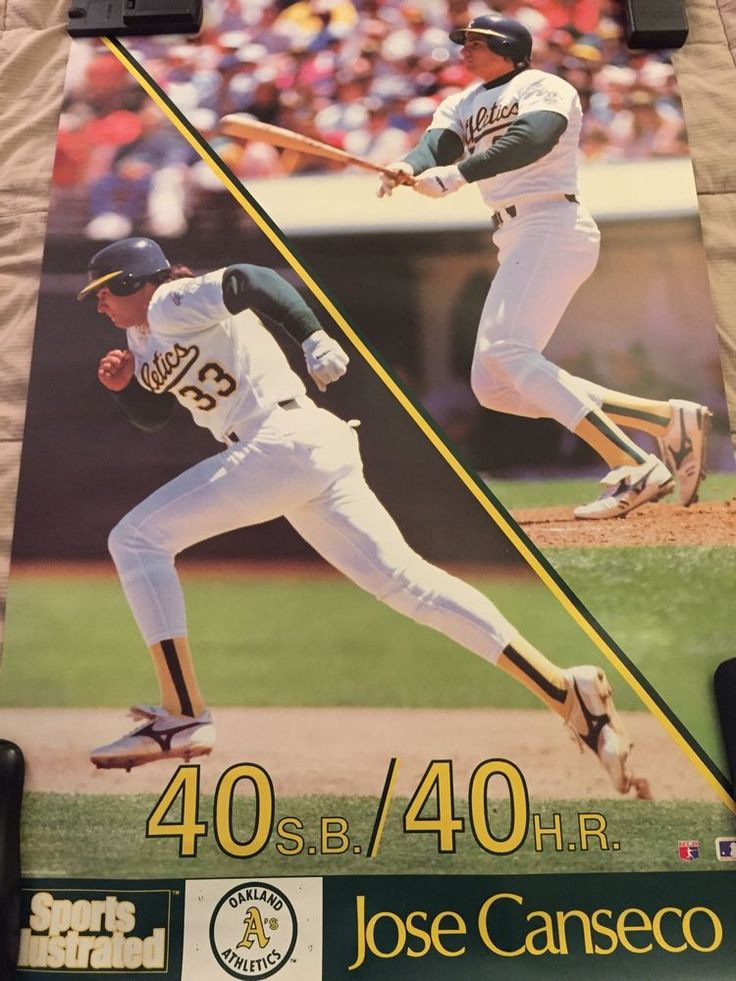 40 40 Jose Canseco Sports Illustrated Poster | eBay