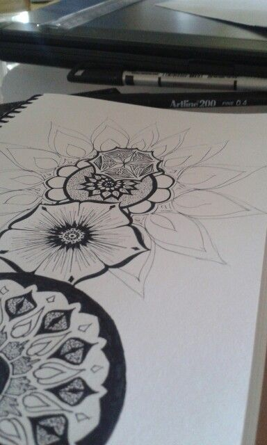 Flowers and sketchy lines... not quite done yet... J. Constantine