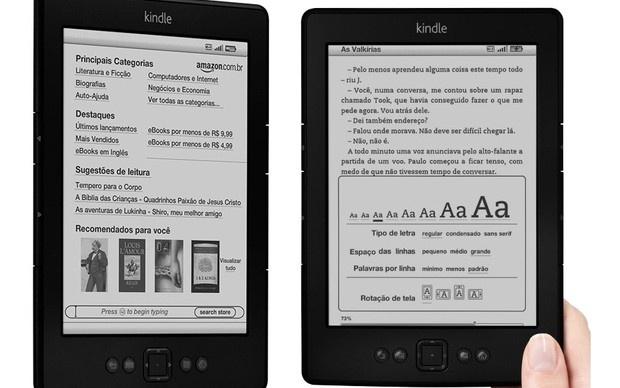 'Kindle brasileiro' tem imagens vazadas no site da Amazon
