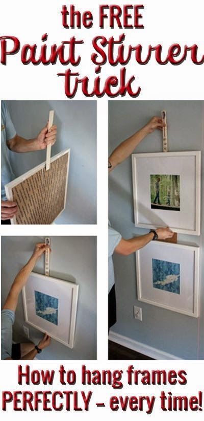 Best DIY Projects: Frame Hanging Hack: How to Get IKEA Ribba Frames to Behave