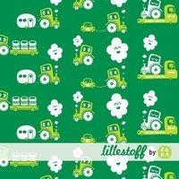 Stretch-Jersey wheels, grün GOTS - minimensch & co