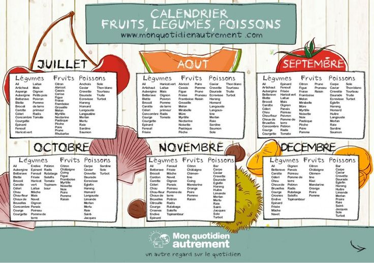 calendrier fruits et legumes de saison 2                                                                                                                                                     Plus