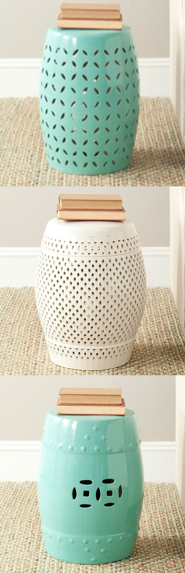 Perfect for indoors OR outdoors, our selection of ceramic stools are a great addition to your home.