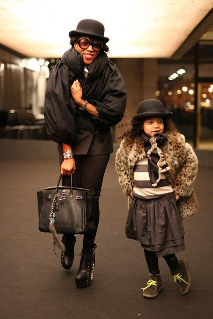 Celebrity stylist, June Ambrose & her daughter, Summer during Fashion Week: Mothers Day, Mothers Daughters, Fashion Style, Fashion Week, Little Fashionista, Hollywood Fashion, Juneambro, Kid, June Ambrose