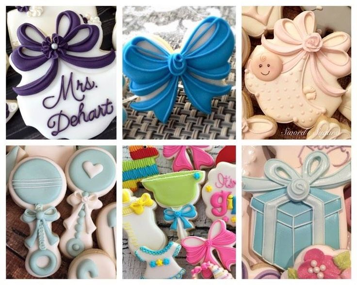 Learn How To Make The Most PERFECT Bow Sugar Cookies Ever With Delorse From  Swordu0027s Sugars · Baptism CookiesBaby Shower ...