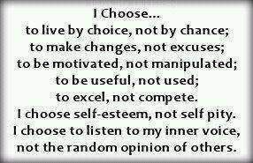 I choose... this helps remind me of some people in my family....