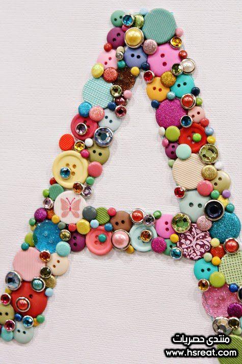 افكار اعمال يدوية بسيطة للبنات Button Crafts Diy Buttons Crafts