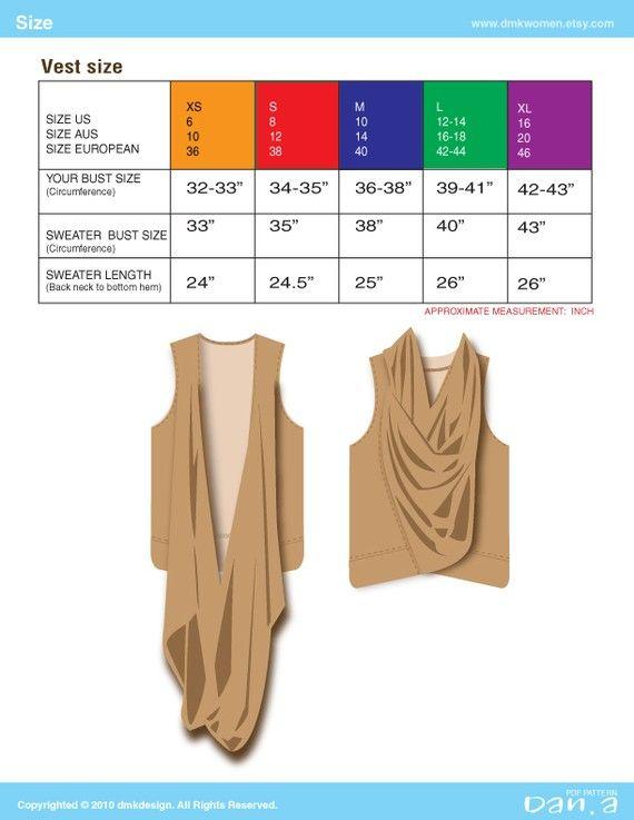 Cowl Neck Vest PDF Patterns and instructions by dmkwomen on Etsy, $8.00
