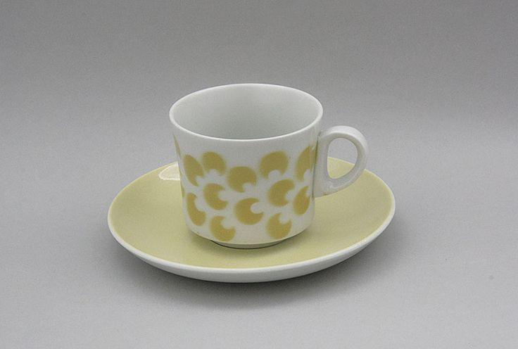 Arabia kahvikuppi, puhalluskoriste, retro