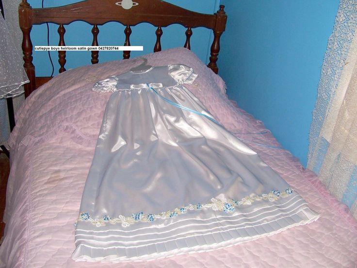 heirloom pleated boys gown satin 85cm very popular 0427820744