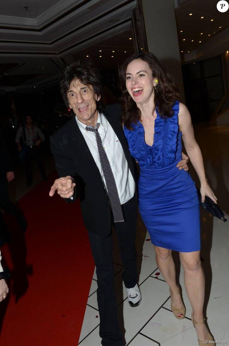 Ron Wood et Sally Humphreys - Christian Audigier et sa compagne Nathalie Sorensen fete son anniversaire chez Jean-Roch, au VIP ROOM de Cannes, le 17 mai 2012