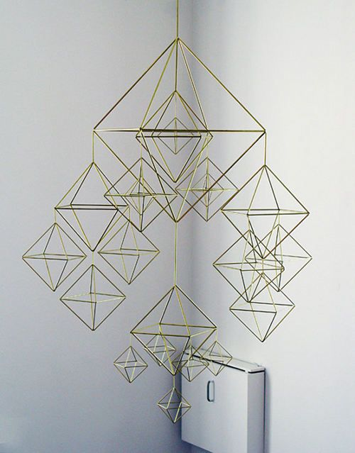 So inspired by Veronika Maria's brass mobiles, just gorgeous!
