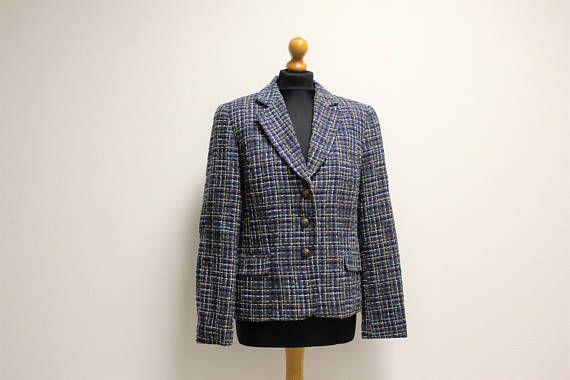 Ladies Tweed Blazer Made in Finland Vintage Edwardian Riding