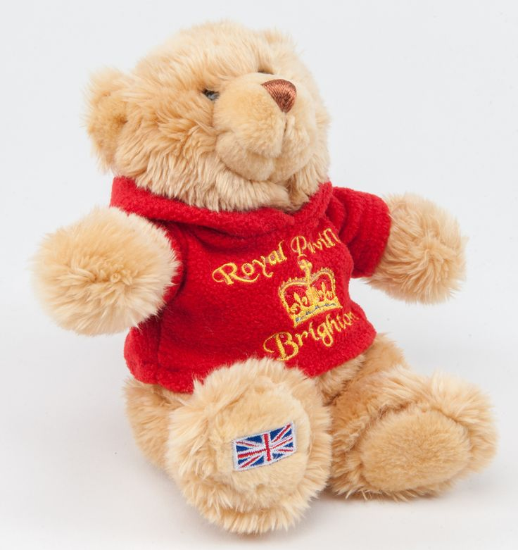 Teddy Bear wearing a red Royal Pavilion Hoodie.   Visit our Online Shop to find more gifts and souvenirs from  The Royal Pavilion Shop. http://shop.brighton-hove-museums.org.uk/ #Teddybear #TheRoyalPavilion