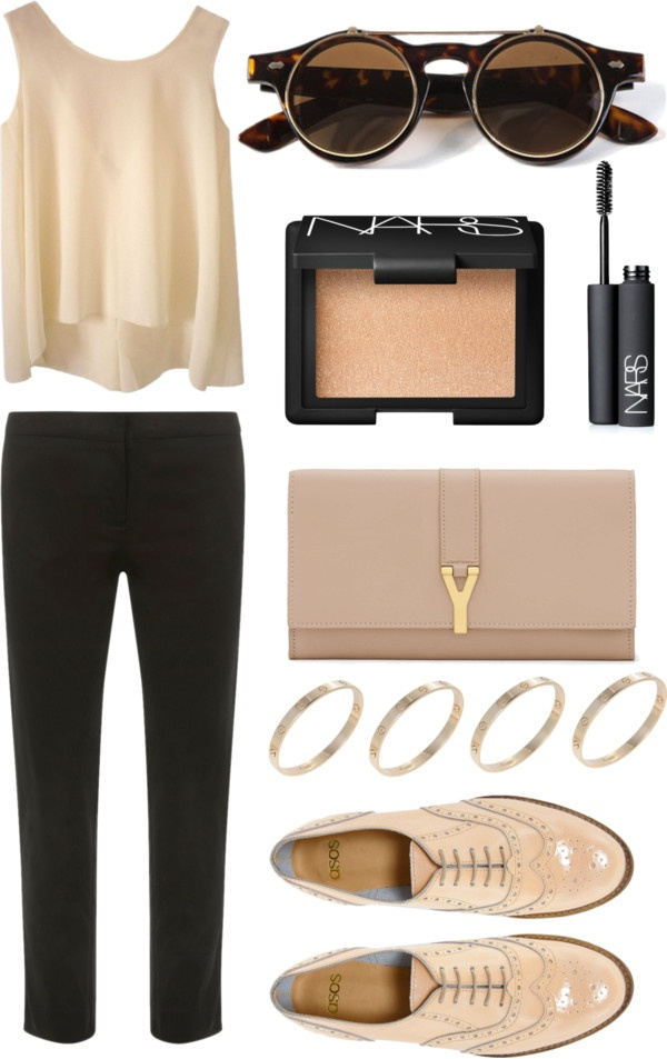 """""""Nude"""" by annaoliviac on Polyvore"""