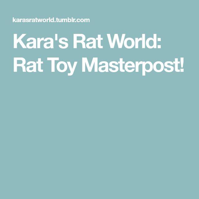 Kara's Rat World: Rat Toy Masterpost!