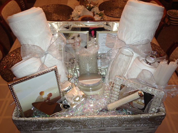 Bridal shower gift basket ideas. Ideasthatsparkle.com on how to do this basket.