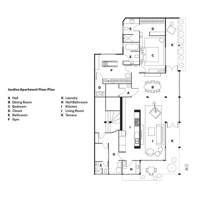 Jardins Apartment | SAO Arquitetura #drawing #plan