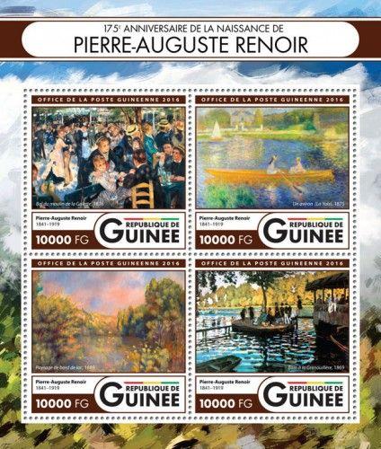 GU16416a 175th anniversary of the birth of Pierre-Auguste Renoir (Pierre-Auguste Renoir (1841–1919), Bal du moulin de la Galette, 1876; the skiff (La Yole), 1875; Lakeside Landscape, 1889; Baths of La Grenouillère, 1869)