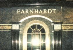Dale Earnhardt, Sr April 29, 1951- February 18, 2001 . Dale is buried on the Earnhardt Estate in Mooresville, North Carolina. USA.