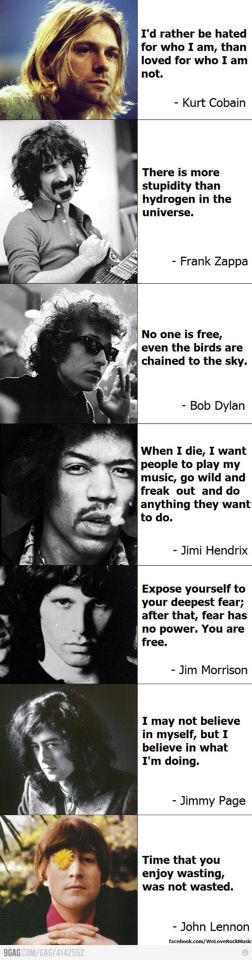 Rock Music Icons Quotes