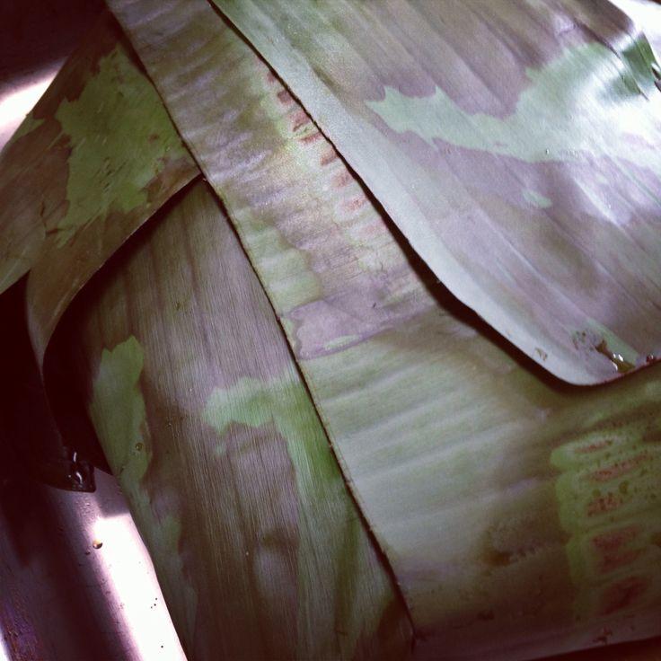Pork cooked in banana leaf