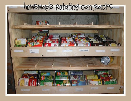 53 best images about rotating can rack on pinterest for Plan storage racks