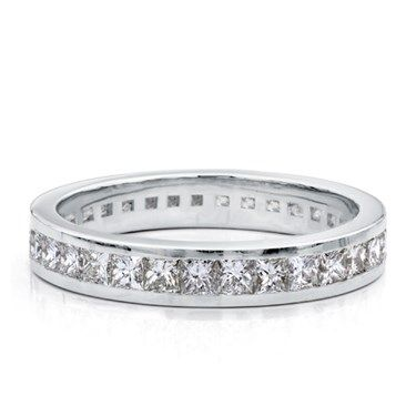Unique Built to match perfectly with item R this channel set wedding Princess Cut DiamondsWedding Bands